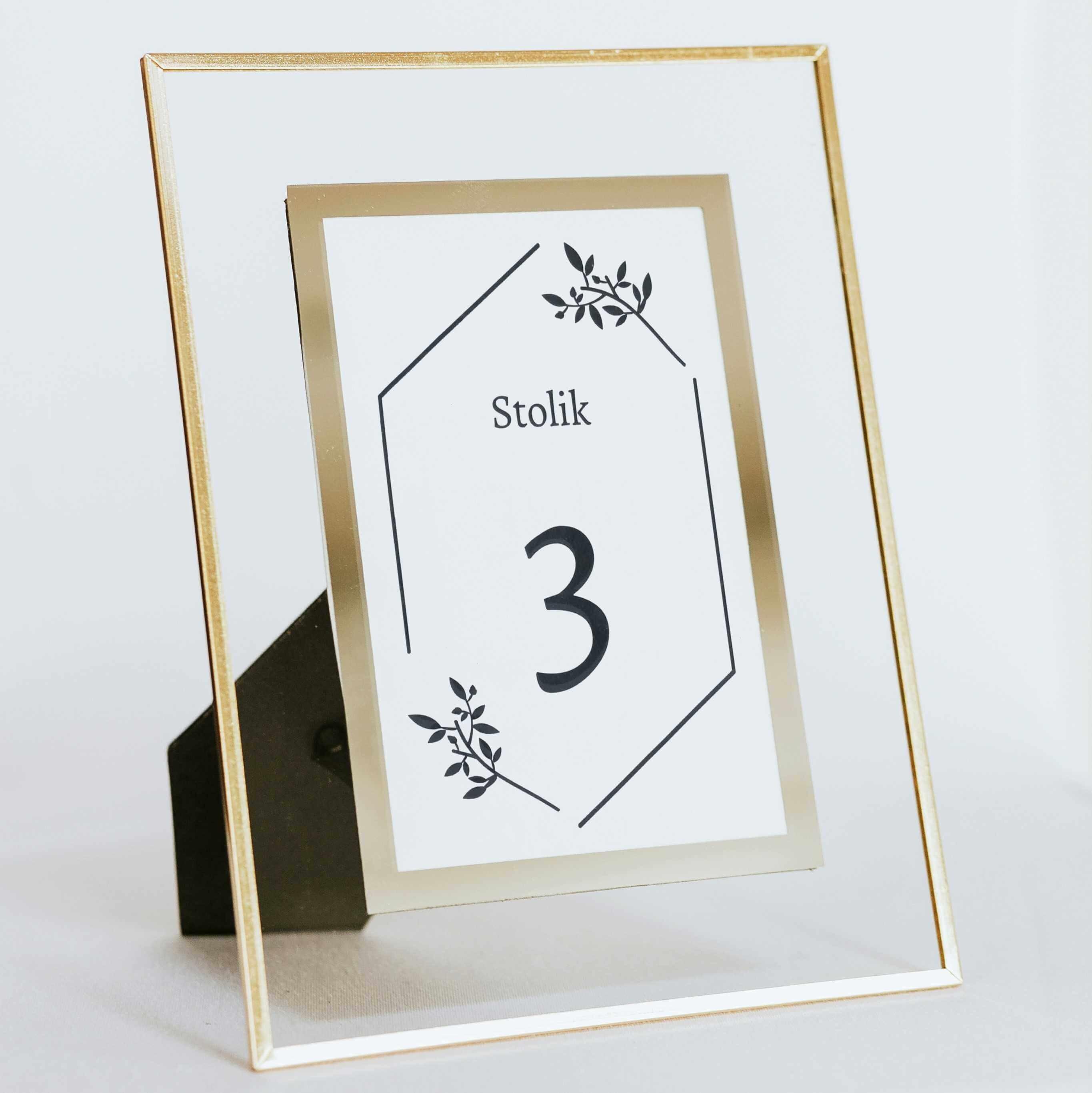 Numer stolika - złoto